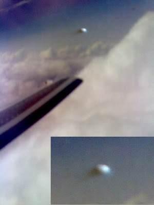 Fotos de ufos obtidas de aviões