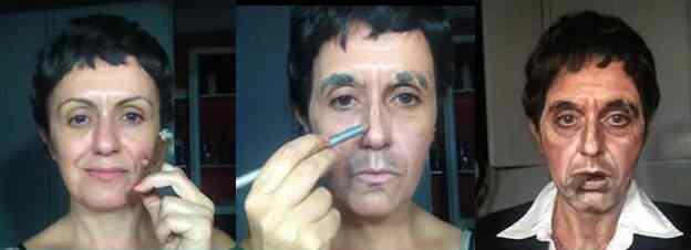 A incrível arte da maquiagem