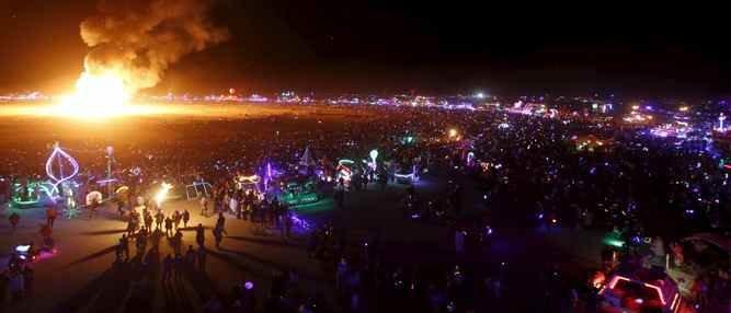 O incrível festival Burning Man