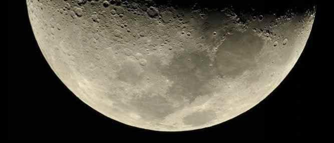 A misteriosa luz na lua
