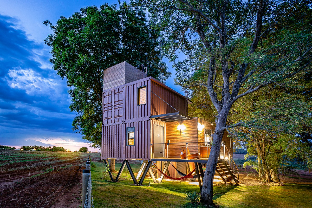 Uma incrível casa contêiner no Brasil