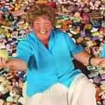 Ela coleciona sabão