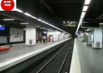 Parkour no metrô