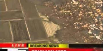 Ufo flagrado durante a Tsunami no Japão? Veja o video