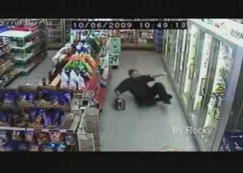 Video do bebado fazendo compras