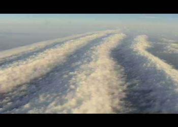 Voando por cima das nuvens