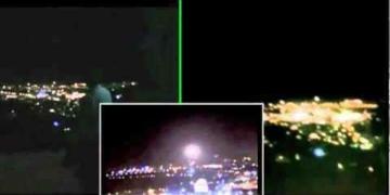 Filmagem triangulada de um UFO em Jerusalém