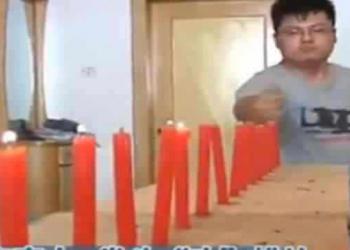 """O Chinês que apaga velas usando o """"ki"""""""
