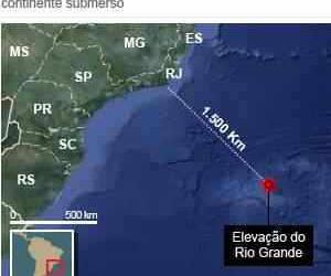 Atlântida? Geólogos acham possível continente submerso a 1.500 km do RJ