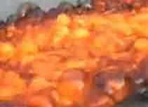 O que acontece com a lava quando ela cai no gelo?