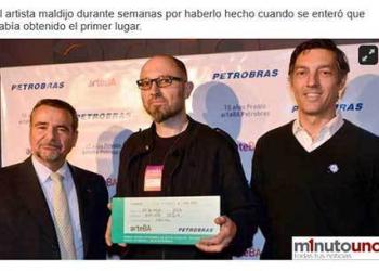 Argentino ganha prêmio Petrobrás de arte sem nem ter mandado a foto da sua obra
