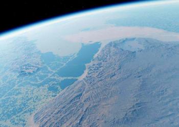 Terra Média do espaço