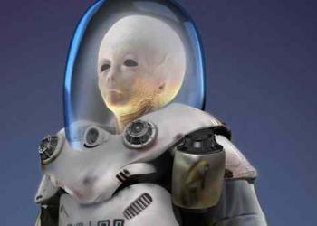 Astronauta Alien no zbrush