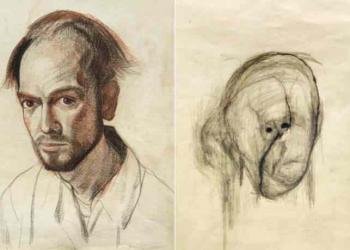Artista com o Mal de Alzheimer faz seu autorretrato até esquecer como desenha