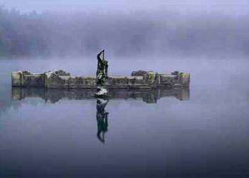 O salão misterioso sob o lago