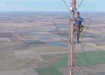 Consertando a antena