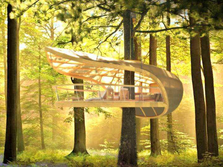 Incrível casa na árvore