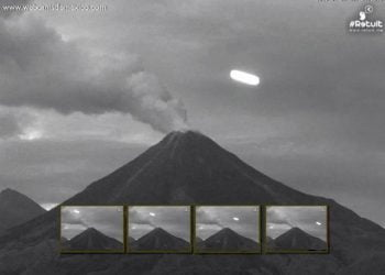 Mais um ovni e o mistério dos ufos e os vulcões