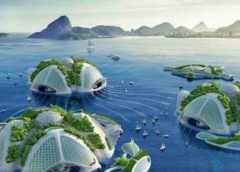 Arquiteto solta a imaginação e cria condomínios futuristas para a enseada do Rio. Baba aí!