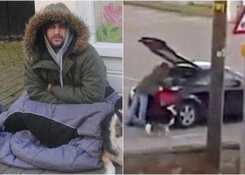 O mendigo malandro que volta pra casa em carro de luxo que vale 230.000 reais