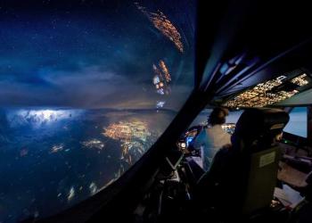Fotos incríveis na cabine de um avião