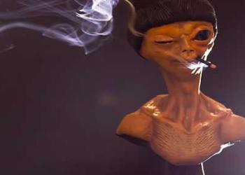 Chegou o ET Brisado, o alien mais chapado do universo