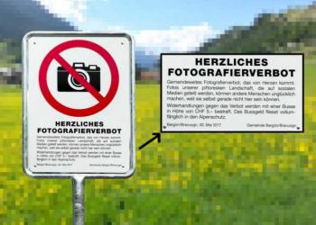 Vila suíça decide proibir fotos do local… Porque lá é muito bonito