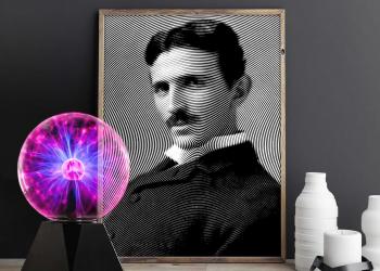 Tesla Line Poster