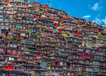 Foto gump do dia: Uma pequena vila do Tibete