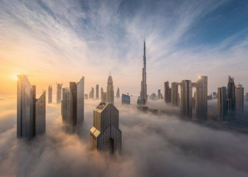 Foto Gump do dia: Amanhecendo em Dubai