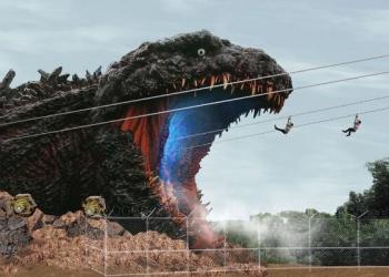 Parque do Japão te coloca na boca do Godzilla