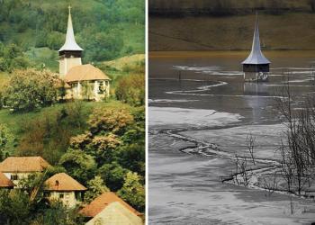 Uma vila que virou um lago tóxico na Romênia