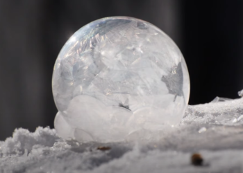 Foto gump do dia: A bolha de sabão congelada